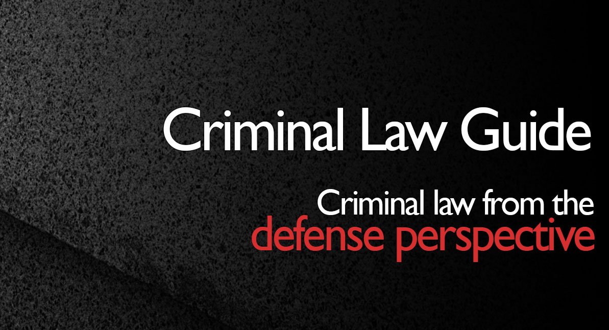 criminal law guide graphic with dark background