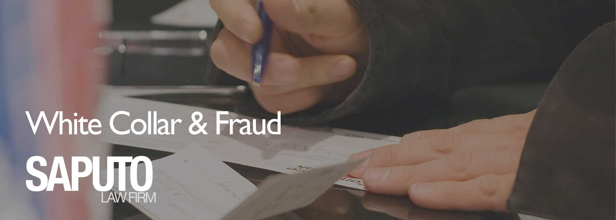 White Collar & Fraud Defense Lawyer Graphic