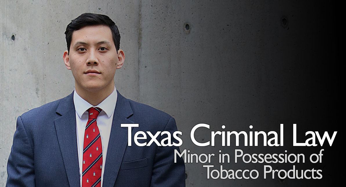 Texas law dating a minor