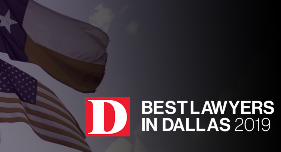 Paul Saputo - Best Lawyers in Dallas 2019 - text over Texas flag