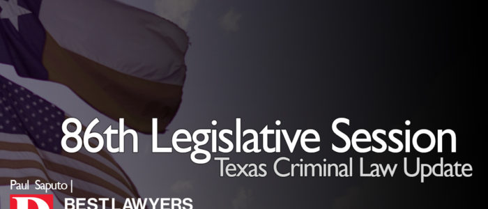 texas criminal law graphic with flags and text