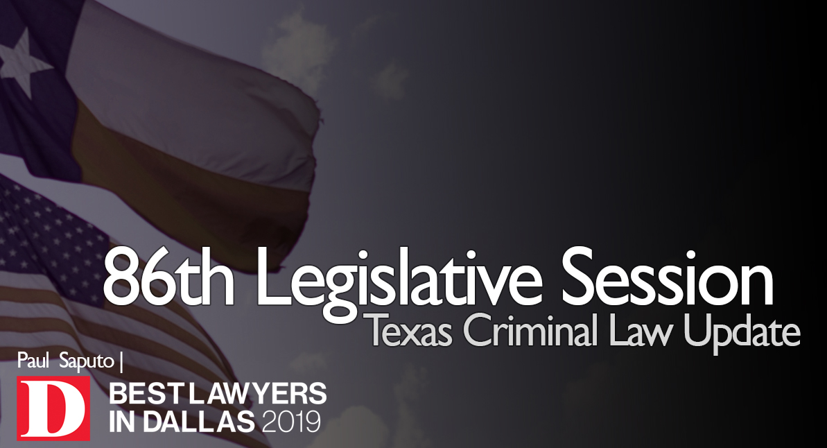 86th Legislative Session Texas Criminal Law Update