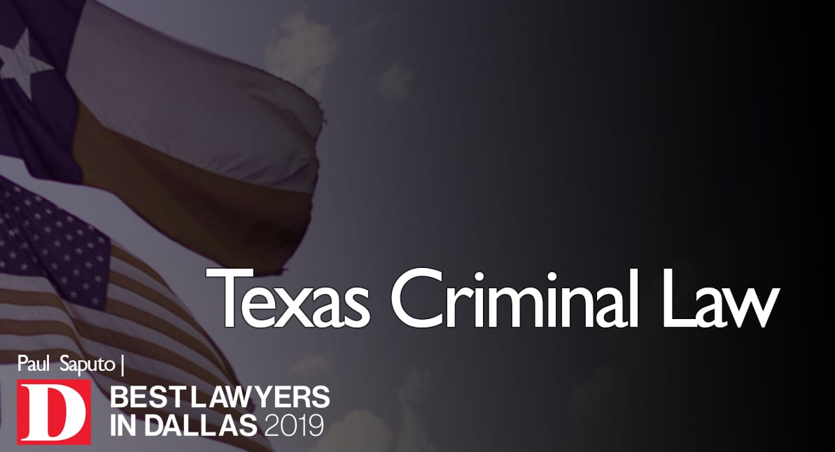 Graphic featuring Texas Criminal Law Texas and flags