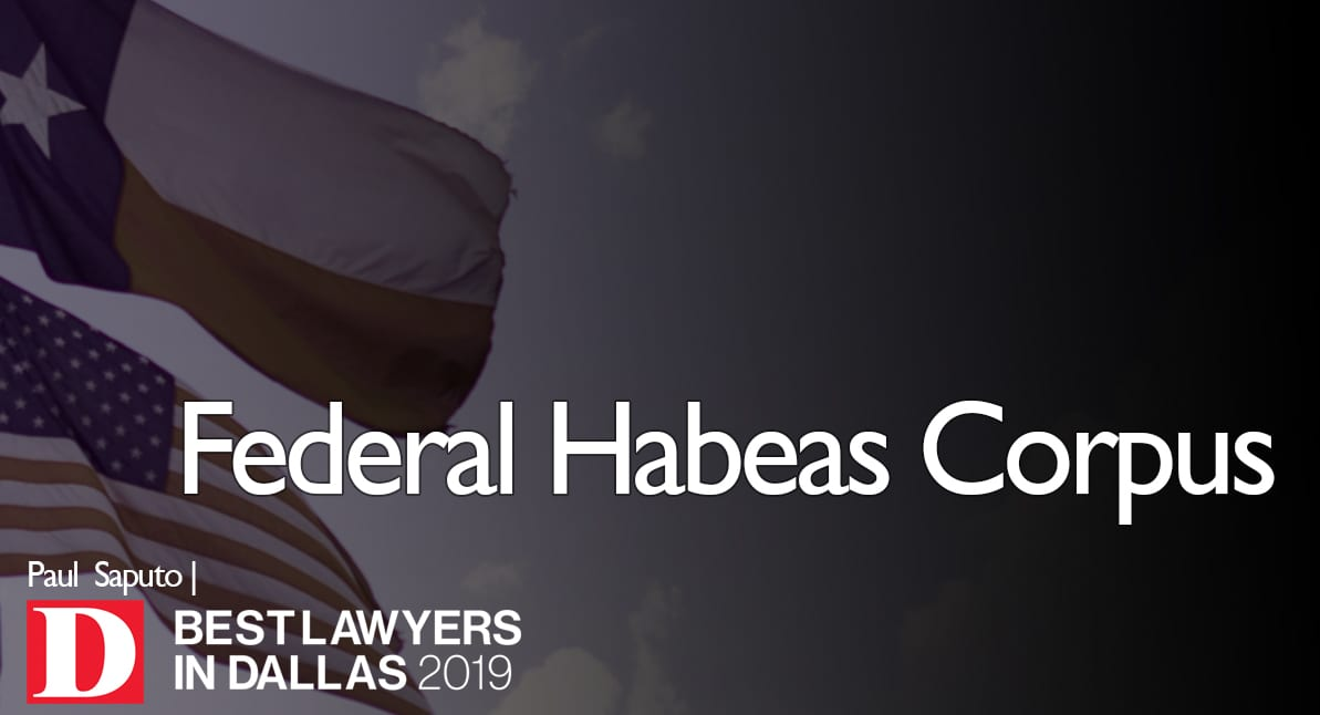 Federal Habeas Corpus Graphic with Texas flag