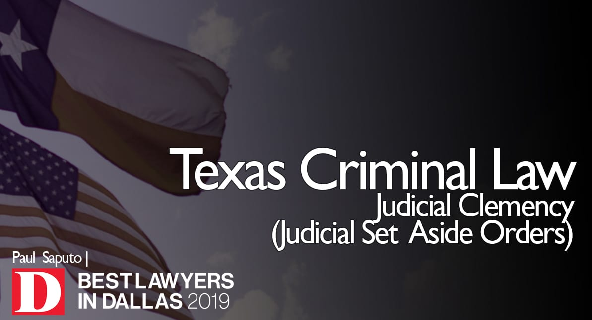 Judicial Clemency Graphic with Texas and US flags