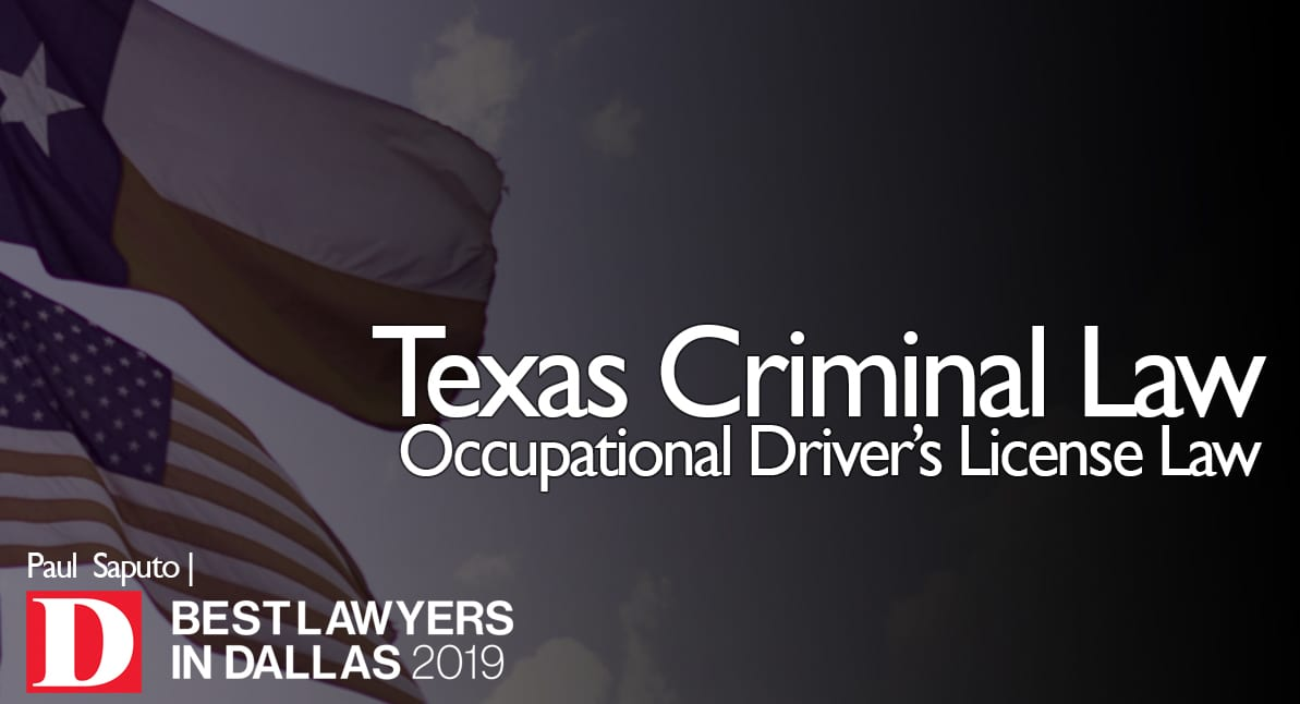 Occupational Driver's License Law Graphic with flags in background