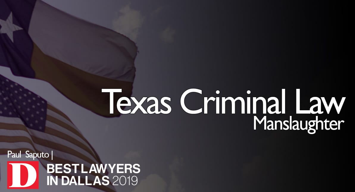 Manslaughter graphic with Texas flag