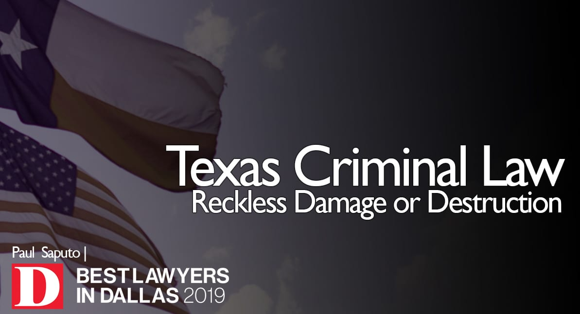 Reckless Damage or Destruction Law Image