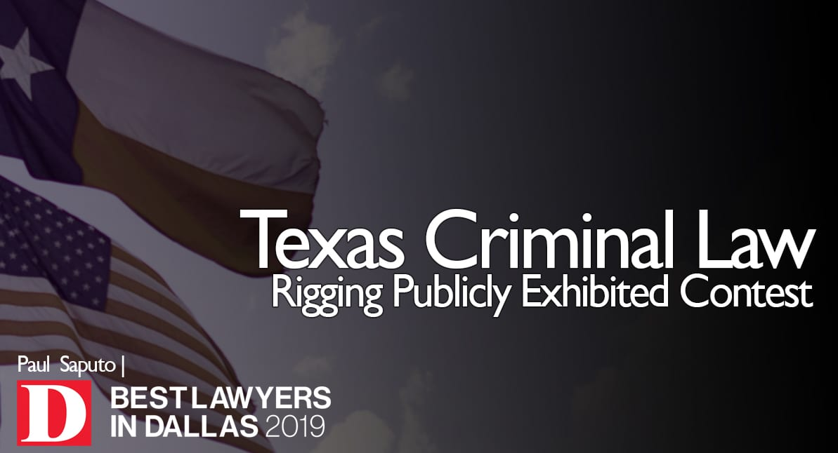 Rigging Publicly Exhibited Contest graphic with Texas flag
