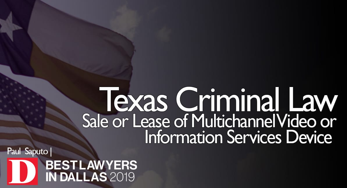 attorney next to Sale or Lease of Multichannel Video or Information Services Device text