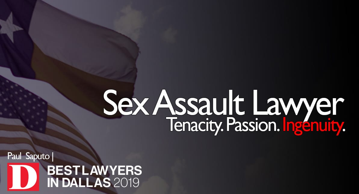 Sex Assault Lawyer graphic with Texas flag