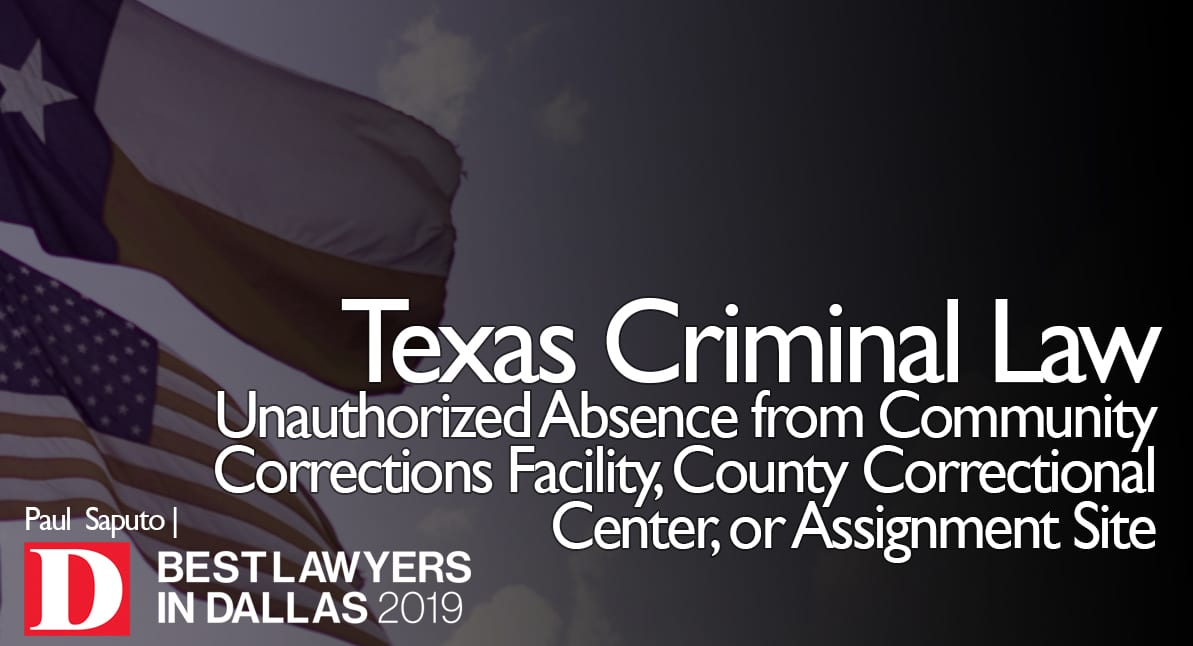 attorney next to Unauthorized Absence from Community Corrections Facility, County Correctional Center or Assignment Site graphic