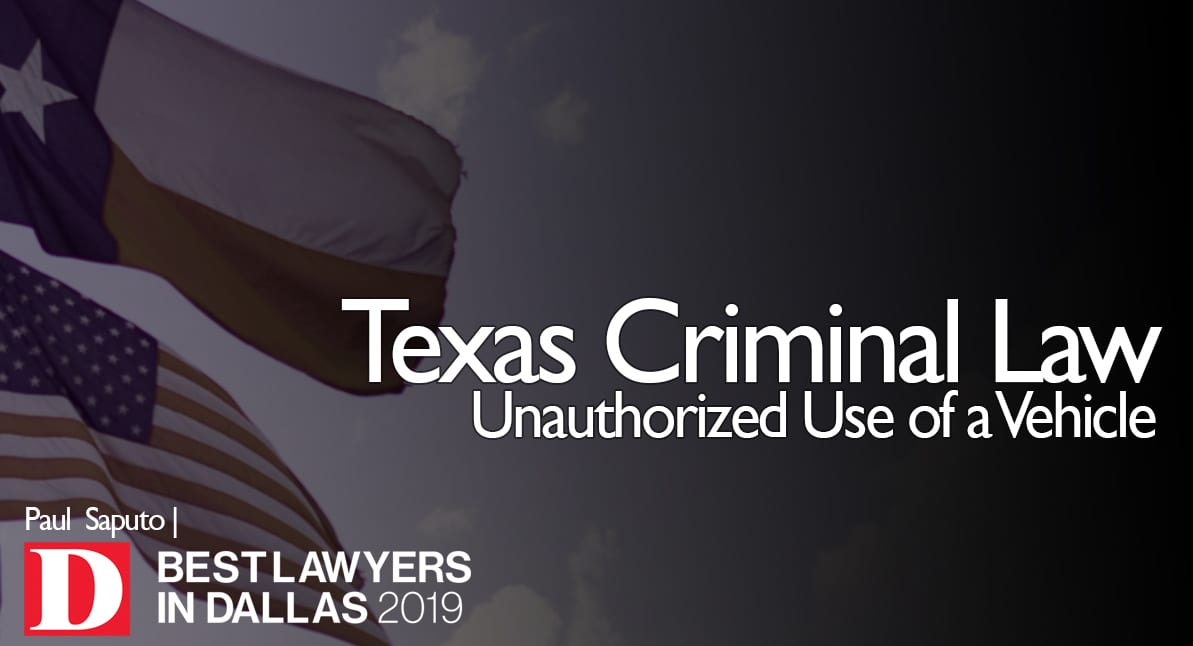 Unauthorized Use of Vehicle graphic with Texas flag