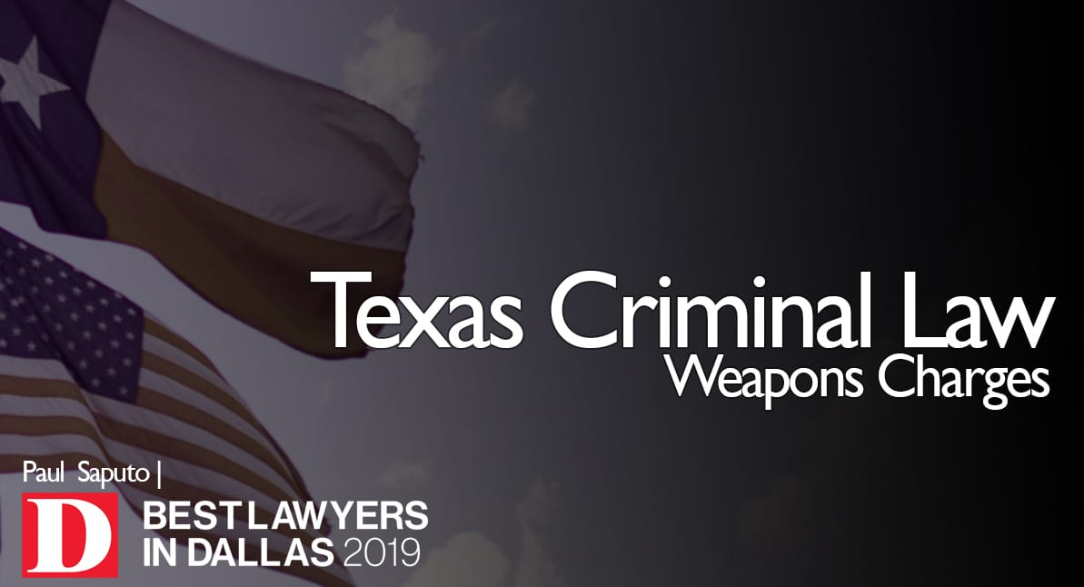 Weapons Charges graphic with Texas flag