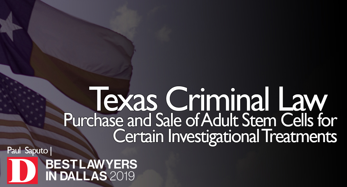 Stem Cell Texas Crime graphic with Texas flag