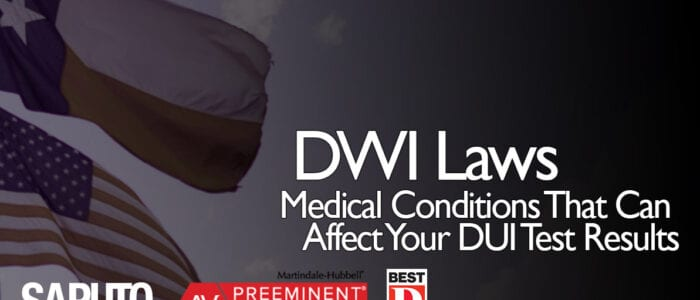 DWI Medical Conditions Graphic