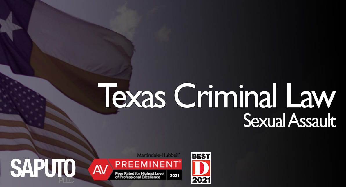 sexual assault law graphic with Texas flag